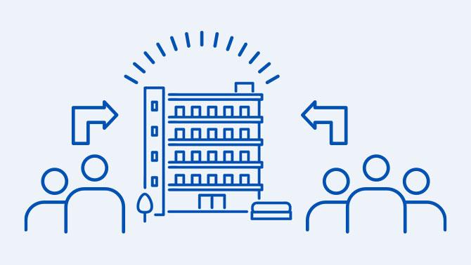 家具家電・wi-fi付きでオンライン研修にも対応